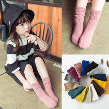 Solid Candy Colorful Baby Socks Cotton Short Boys Girls Classic Leg Warmers Child Anti Slip Boots Ankle Knee Sport Socks