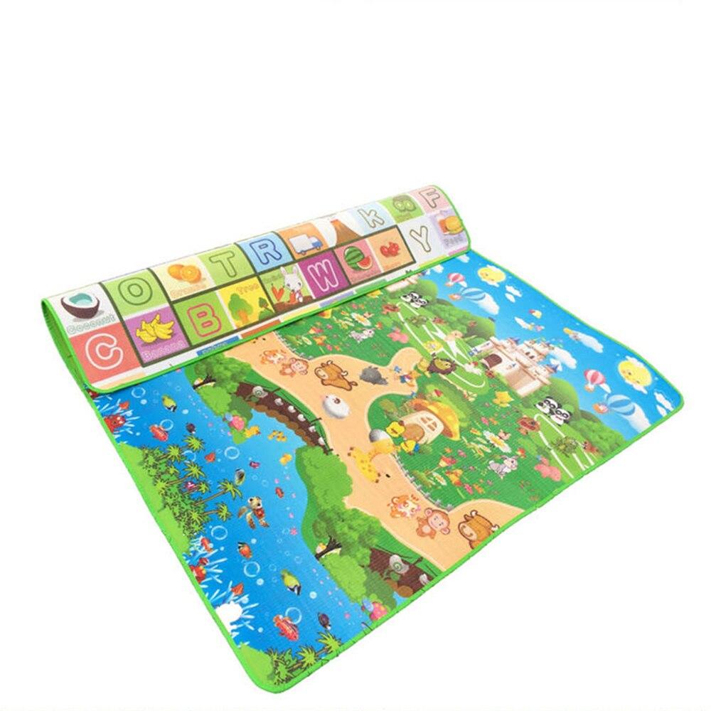 Tapis de jeu de Puzzle rampant pour enfants 200X180X2 CM épaisseur de bébé tapis de mousse Double face tapis de montée tapis