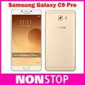 2016 original samsung galaxy c9 pro 4g lte octa teléfono móvil c9000 core Android 6.0 6 GB RAM 64 GB ROM Cámara de 16MP 6 ''Teléfono Celular