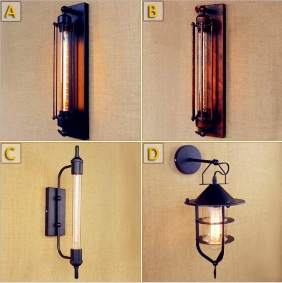 Edison Antique Retro Vintage Wall Light Fixtures Dinning Room Style Loft Industrial Wall Lamp LED Sconces Applique Murale Pared
