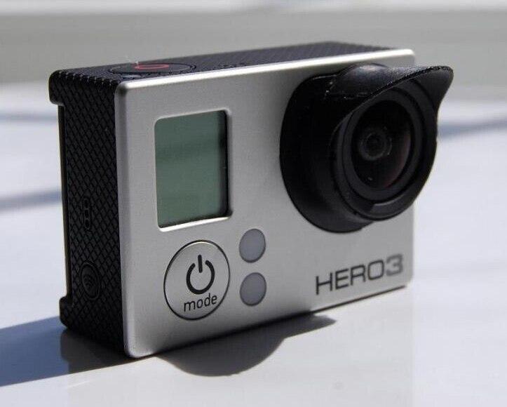 3D Printed Gopro 4 3 + Accessaries Camera Lens Sun Hood Sunshade Cap