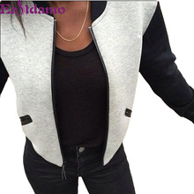 2016 Autumn New Fashion Women Coat Long Sleeve Casual Jacket Autumn Outwear Coats Jackets Women Chaquetas Mujer Good Quality
