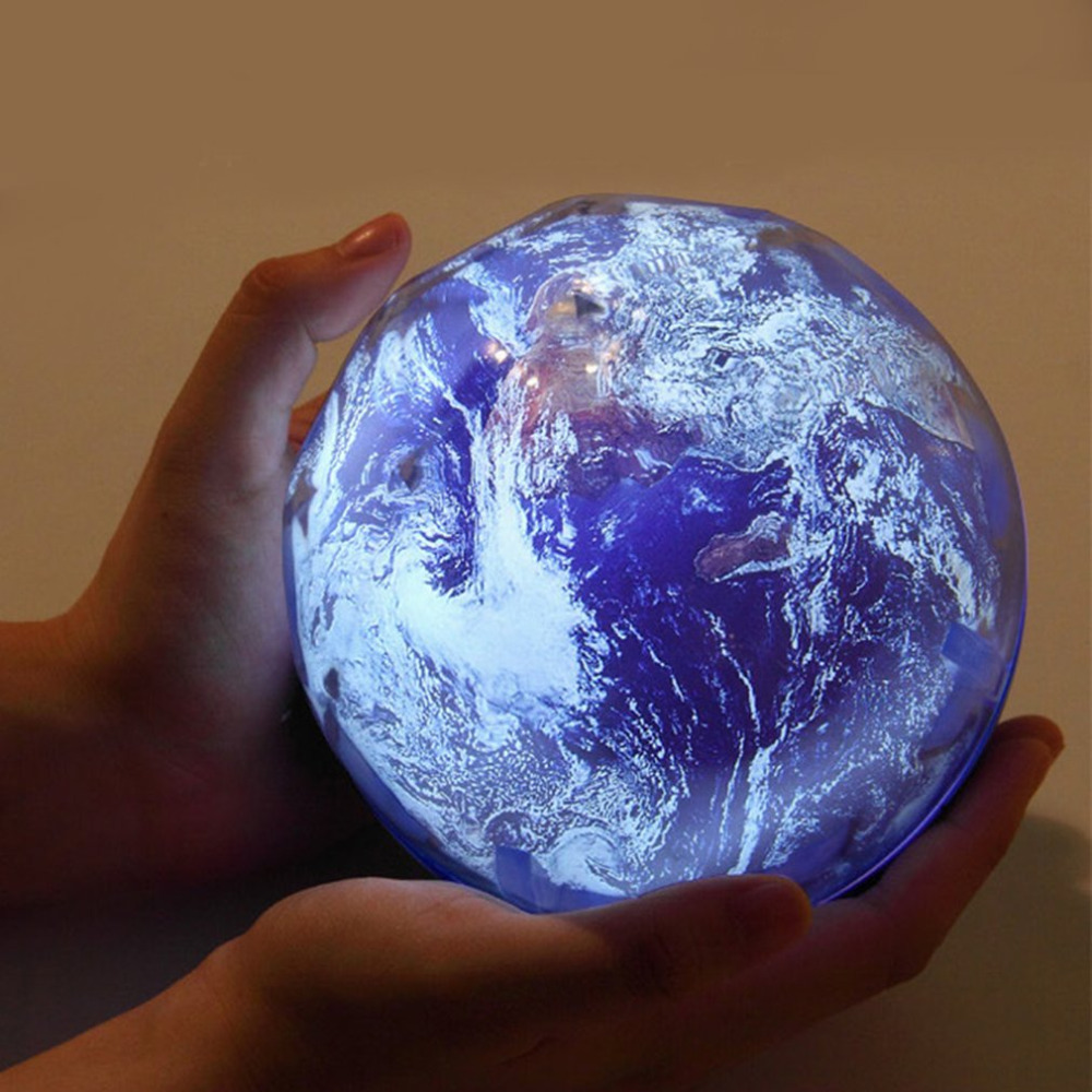 USB Starry Sky Earth Projector LED Night Light Planet Universe Magic Lamp Three Colors Adjusting AA Battery Powered Lamp Novelty led night light ocean wave projector starry sky aurora star light lamp luminaria baby nightlight gift battery powered led lights