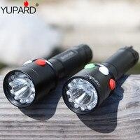 YUPARD Ultra Bright CREE Q5 LED Red Green Yellow White 7 Mode Flashlight Railway Signal Light