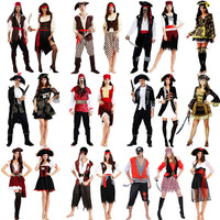 Pirate Costume Caribbean Pirates Costume Adult Halloween Carnival Costumes Fantasia Fancy Dress Party Supplies