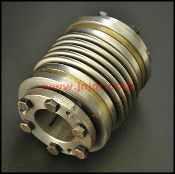 BW40T OD40 L55 Flexible Metal Bellow Shaft Coupling d40mm setscrew hard alloy flex metal bellow coupling
