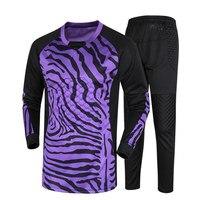 New Men Soccer Goalkeeper Jersey Set Football Suit Sponge Protector Suit Camisetas De Futbol Jersey Set