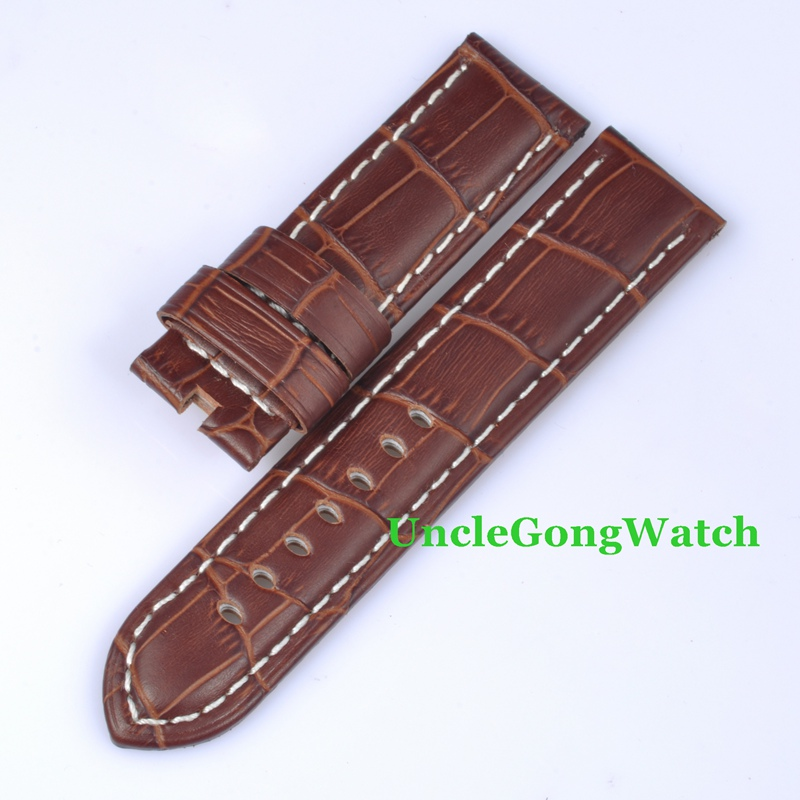 font b Watch b font Parts 22mm Leather font b Watch b font Strap White