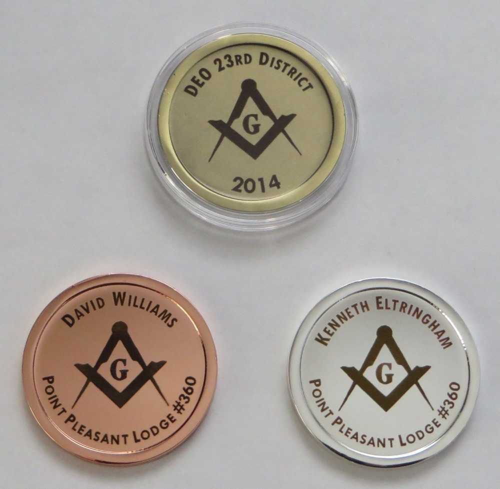 Cheap printed Epoxy coins low price high quality aluminum alloy