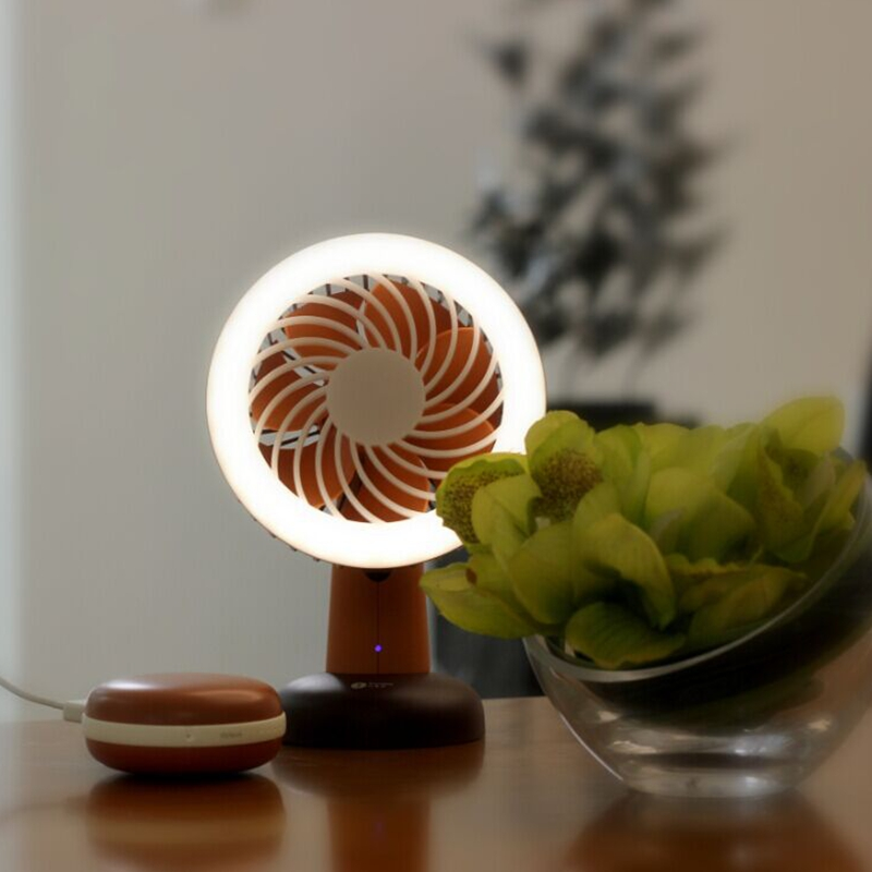 Rechargeable Fashionable Mini Portable Childrens Fan Multifunction Camping Travel Lantern 2 in 1 Outdoor USB LED Fan Light
