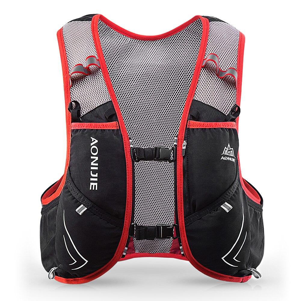 AONIJIE C928 5L sac à dos d'hydratation sac à dos gilet harnais pour 2L vessie d'eau randonnée Camping course Marathon Sports de course - 4