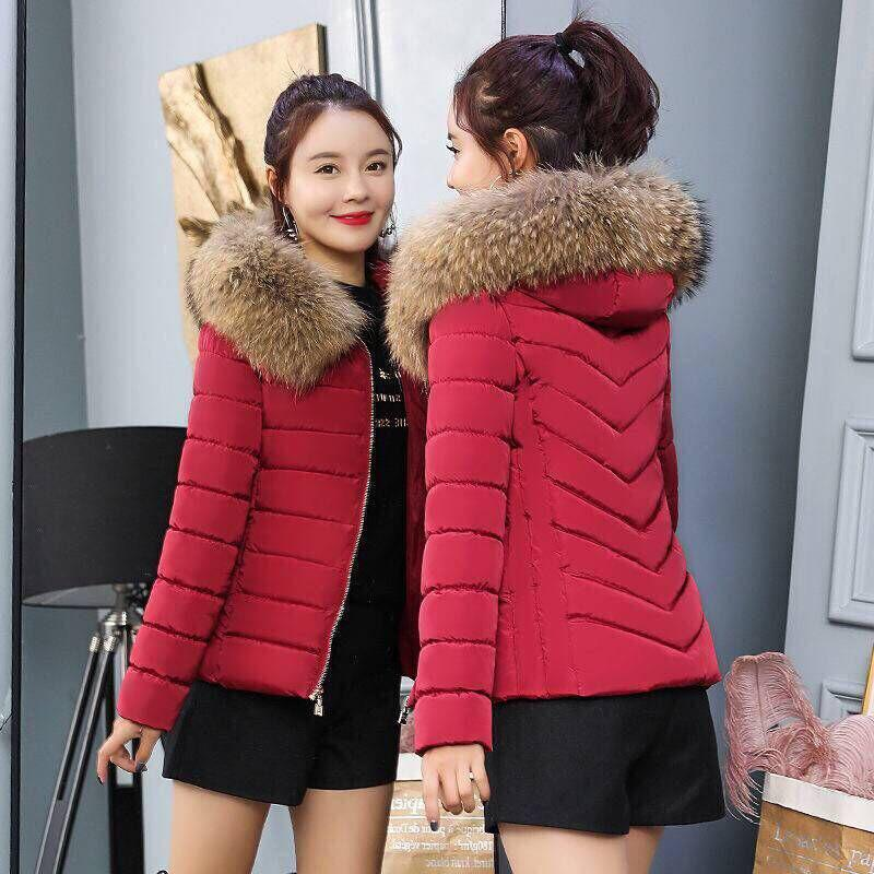 5XL Womens Parka Casual Big Fur Collar Outwear Autumn Winter Military Hooded Coat Winter Jacket Fur Coats Winter Jackets And 4XL