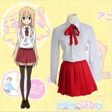 Doma Umaru Trajes de Cosplay Uniforme Escolar Japonés Anime de Japón Y Corea Del Sur Himouto! Umaru-Chan Ropa (Falda + Camisa + Corbata)