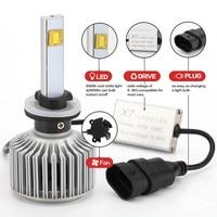 2X Car LED Headlight 12V 24V 120W 9600LM 6000K Light Auto Headlamp Bulb Kit H1 H3