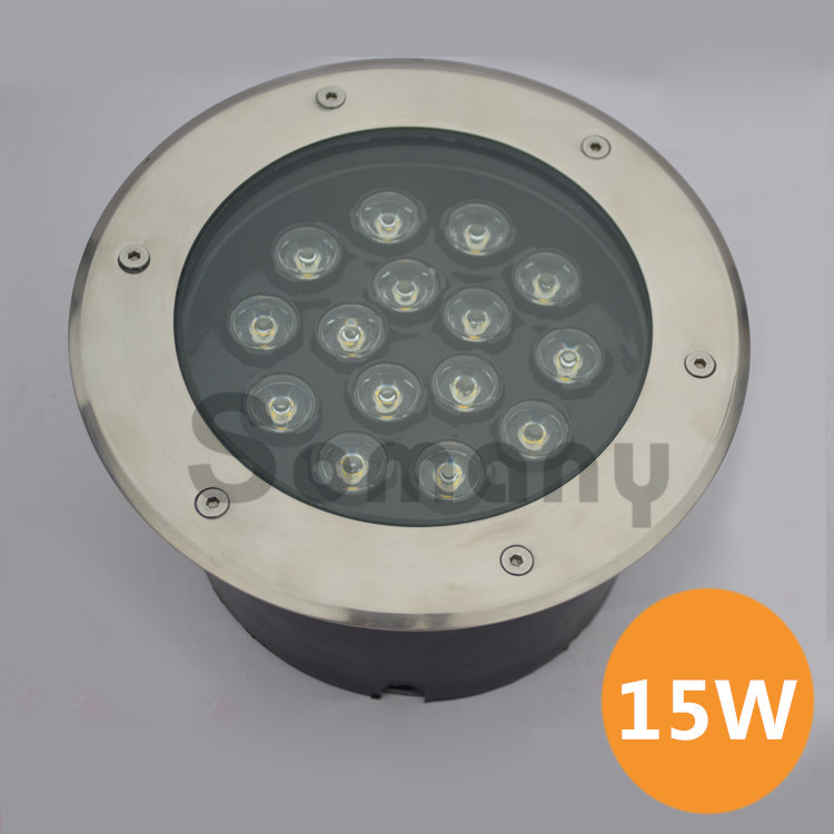 ФОТО Best Discount 15W Led Underground Lamp Stainless Steel AC85-265V Rustproof Warm/Cool White for Pool/Park  Outdoor Spotlight
