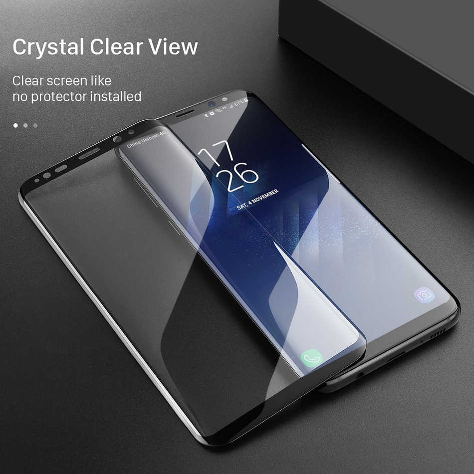 GerTong 3D изогнутое закаленное Высокопрочное Стекло для Samsung Galaxy S8 + S9 + Note 8 S8 S9 плюс полный экранный протектор прозрачный чехол для мобильного телефона пленка