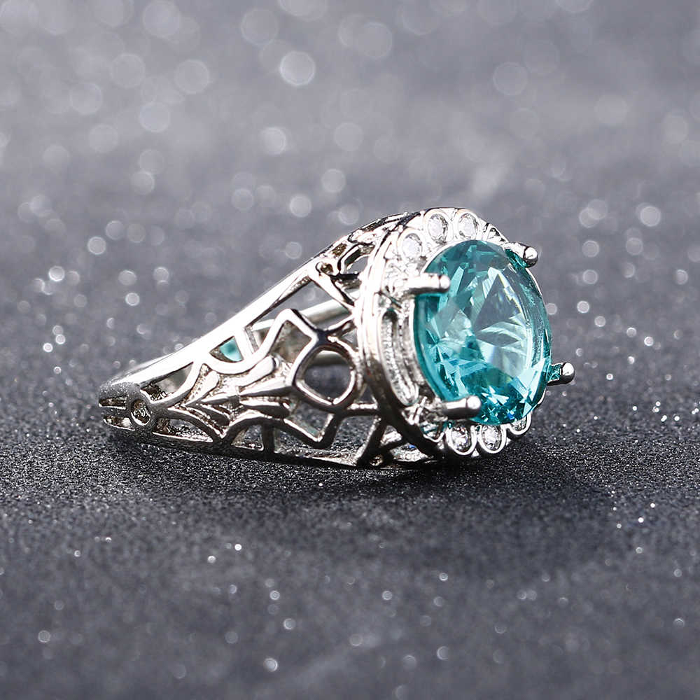 Bague Ringen Vintage 100% 925 Sterling Silver utworzono aleksandrytowe pierścienie z kamieniami szlachetnymi dla kobiet Party rocznica Fine Jewelry Ring