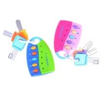 Bebek oyun müzik oyuncaklar çocuk müzik araba anahtarı vokal akıllı uzaktan araba sesler erkek bebek Flash Pretend eğitici oyun oyuncaklar игрушки
