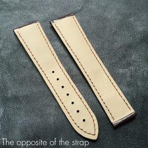 Image 3 - Bracelets DE montre Alligator Crocodile, pour Omega DE VILLE, Seamaster, océan, Bracelet DE montre, cuir véritable, 19mm, 20mm, 21mm