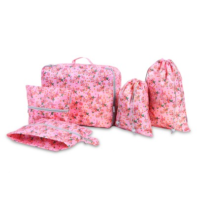 5pcs/set Waterproof Floral Storage Bags Travel classification Organizer Home Clothing Organization Accessories Supplies Products