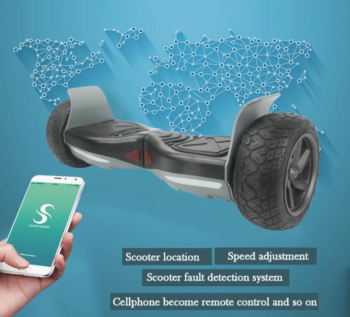 APP 8.5 pouce Super puissance Auto Balance Électrique Hoverboard 2 roue Eletric Scooter Bluetooth Par-Dessus Bord Oxboard Hover bord