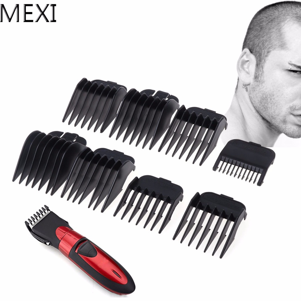 MEXI 8Pcs Universal Hair Clipper Limit Comb Guide Attachment Size Barber Replacement