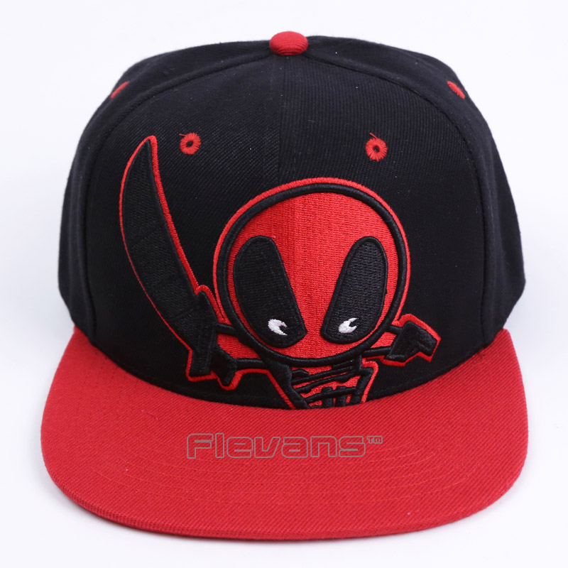 2017 New Fashion Deadpool Baseball Cap Hip Hop Snapback Cartoon Caps for Men Women Summer Unisex Adult Hat