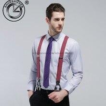 Топ Мода классические эластичные зажимы Регулируемый бандаж подтяжки галлус с 6 зажимами мужские подтяжки
