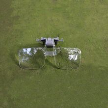 Magnifier Clip On Clear Magnifying Glasses HD Lens Precise Eyeglasses Jewellery Appraisal Watch Repair Tool