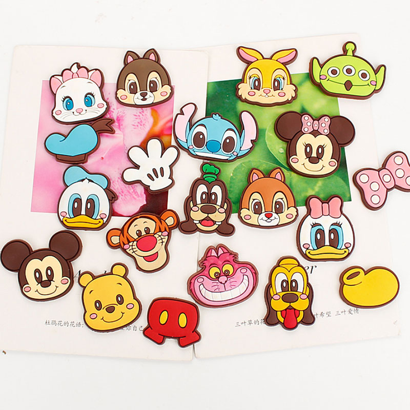 1 Pcs(without Magnet) Cartoon Silicone Diy Material,fridge Magnets Accessories,brooch,shoe Buckle,clip Hand Making Material -191