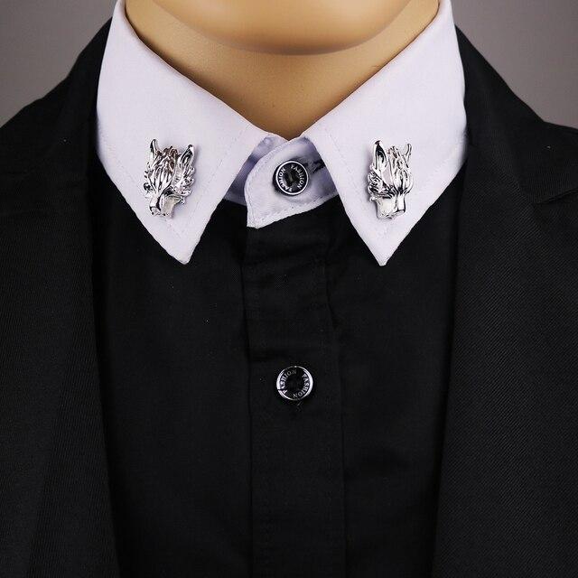 2017 ограниченное по времени предложение Брош булавки броши для мужской костюм брошь воротник украшен Волчья Голова рубашка аксессуары прилив корсаж