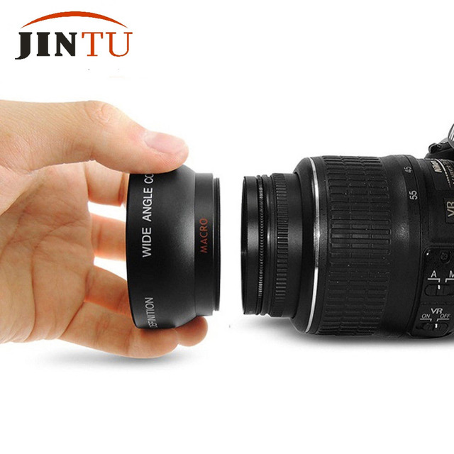 55mm 0.45X Super Macro Wide Angle Fisheye Lens for Canon NIKON PENTAX DSLR SLR Camera 55MM thread lens