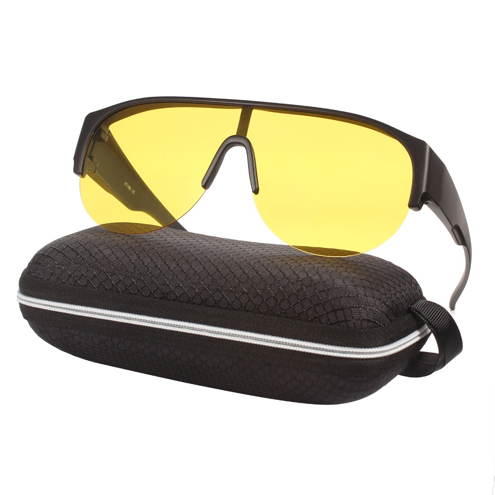 e099ac29f33 Agstum Half Rimless Polarized UV Sunglasses Fit Over Glasses Wrap Sports