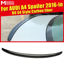 Fit For Audi A4 A4a A4Q High-quality Rear Spoiler B9 S4 Style Coupe Carbon Fiber Trunk Wing car styling 2016+