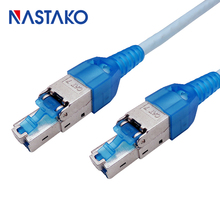 Toolfree RJ45 Cat7 Connector STP Shielded modular Plug Toolless RJ45 Cat7 Connectors for Cat.7 Solid Network Cable toolfree rj45 cat7 connector stp shielded modular plug toolless rj45 cat7 connectors for cat 7 solid network cable