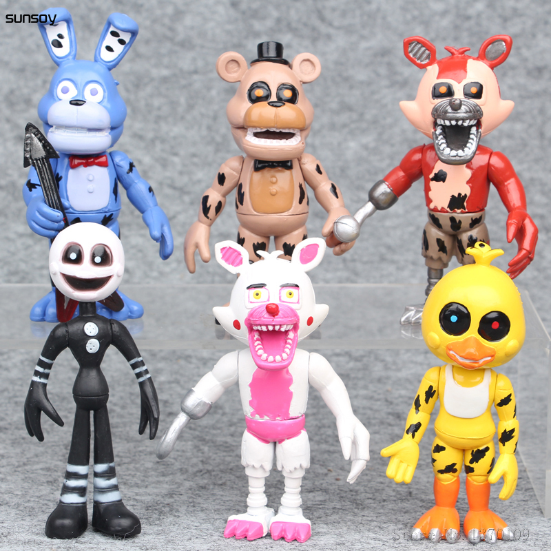 5 Nights At Freddy Toys : New pcs lot five nights at freddy minecraft games toys