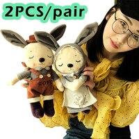 Grilfriend regalo 2 unids/par 35 cm parejas conejo felpa de peluche suave Juguetes para Niños y Niñas presente a la novia