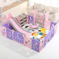 Kinder spielplatz hause innen baby kleine spiel zaun klapp baby krabbeln matte zaun Multi-funktionale kombination spiel zaun