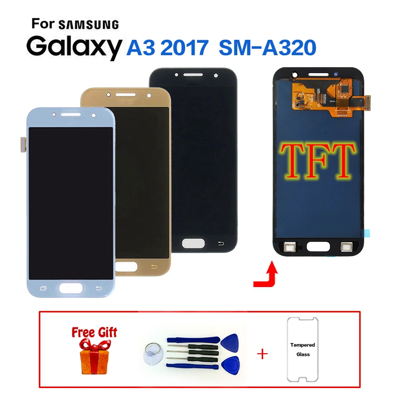 For SAMSUNG Galaxy A3 2017 A320 SM-A320F LCD Display Screen replacement for Samsung SM-A320FL A320Y display screen lcd moduleFor SAMSUNG Galaxy A3 2017 A320 SM-A320F LCD Display Screen replacement for Samsung SM-A320FL A320Y display screen lcd module