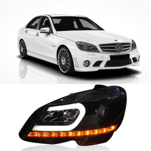 Ownsun Impressive C Curve Smoke Black LED DRL Headlight For Mercedes-Benz W204 C180 auto fuel filter 163 477 0201 163 477 0701 for mercedes benz