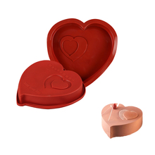 3D Silicone Molds Baking Tools For Heart Shape Cakes Chocolate Brownie Mousse Kitchen Accessrice