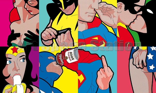 Buy superman wonder woman dc comics - Cuadros pop art comic ...