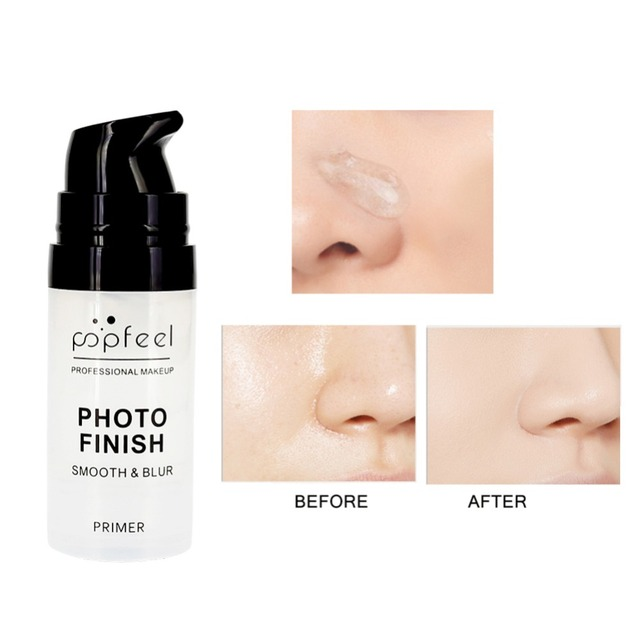 POPFEEL 15ml Makeup Foundation Primer Cream Moisturizer Makeup Foundation Easy to Wear Facial Care Essential Oil Whitening TSLM1