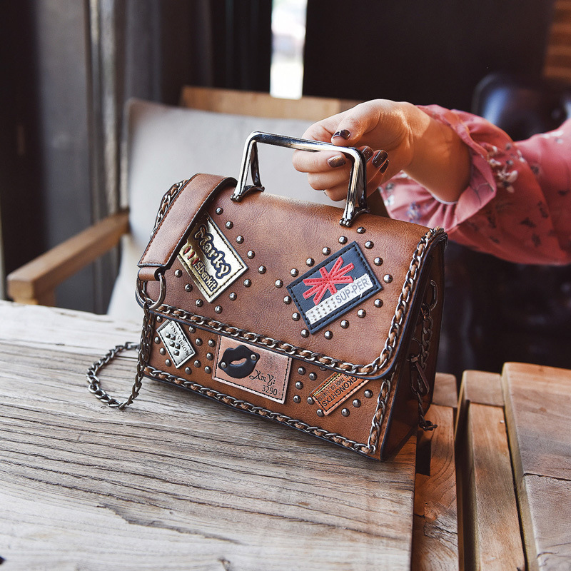 New Women Brand Designer PU Leather Shoulder Bags 2018 Small Crossbody Bag with Chain For Ladies Tote Bags pink pvc crossbody bags with small pu bags