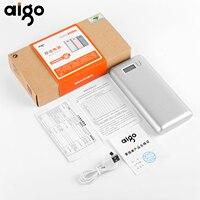 Aigo W20000 20000 mAh Pil Şarj Büyük Kapasiteli Hızlı Şarj Güç Bankası LCD Harici Yedekleme Güç Kaynağı Çift USB Powerbank