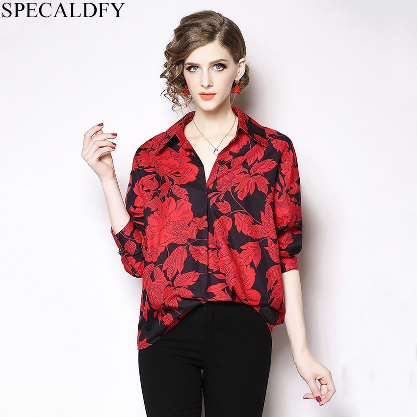 f669bf7272c141f Модная блуза винтажные блузки ropa mujer 2019 дизайнерские Топы Рубашки  женские рубашки с длинными рукавами плюс