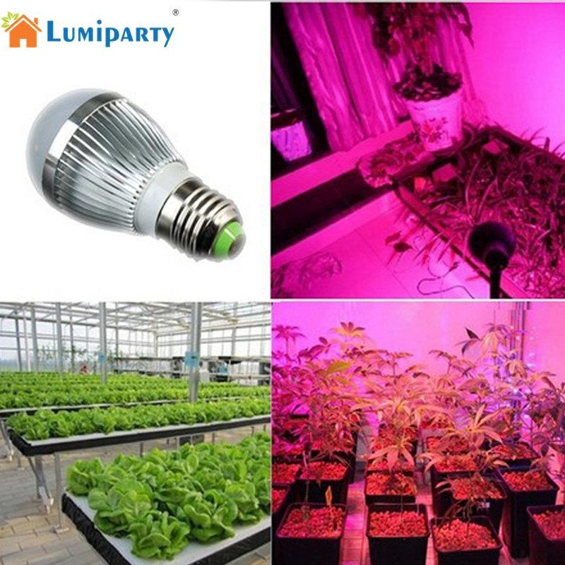 LumiParty E27 LED Full Spectrum Plant Grow Light for Indoor Hydroponic Plant Vegetable Cultivation Horticulture Industrial