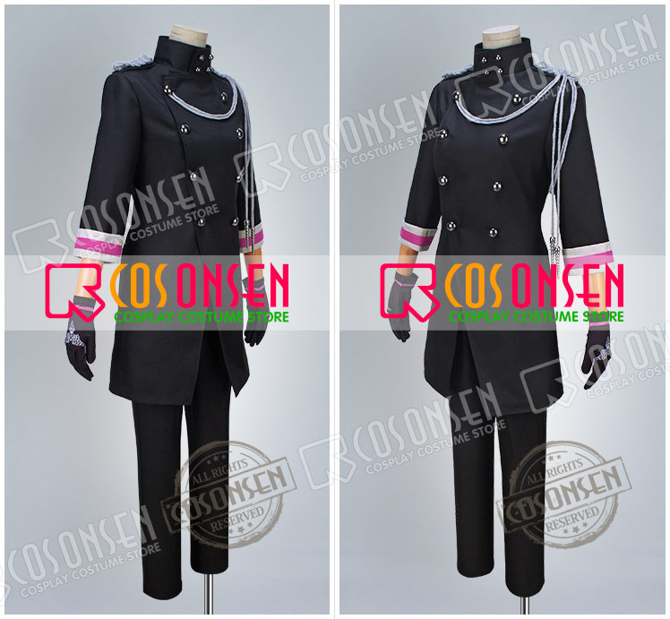 Uta no Prince sama Shining All Star CD2 Ai Mikaze Ranmaru Kurosaki Reiji Kotobuki Camus Senior Black Uniform Cosplay Costume