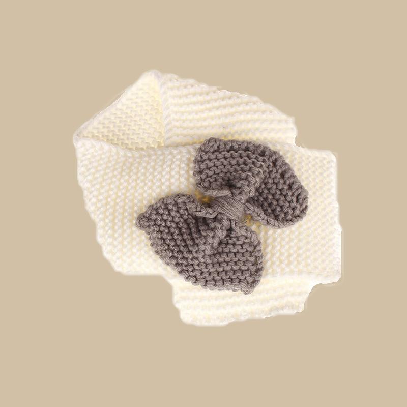 Осенне-зимний теплый шарф для мальчиков и девочек, шаль-снуд, шарфы - Цвет: Белый