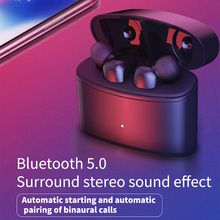 Wireless Bluetooth V5.0 Earphone HIFI stereo sound headset Intellingent noise for fye T6 TWS Sprot Earphonewith charging box